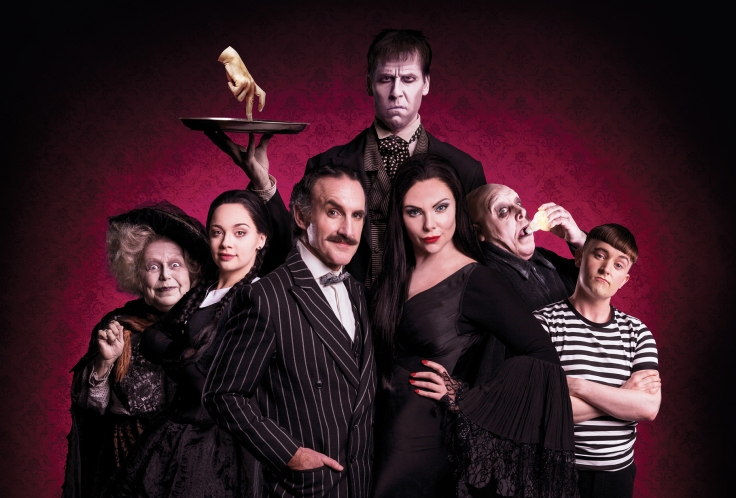 Valda-Aviks-Carrie-Hope-Fletcher-Cameron-Blakely-Dickon-Gough-Samantha-Womack-Les-Dennis-Grant-McIntyre-in-THE-ADDAMS-FAMILY-credit-Matt-Martin-1