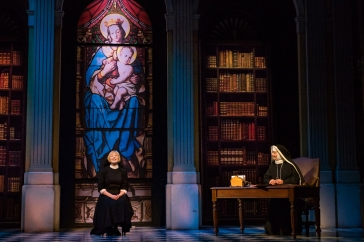 The-Sound-of-Music-UK-Tour-Lucy-OByrne-as-Maria-and-Jan-Hartley-as-Mother-Abbess-credit-Mark-Yeoman