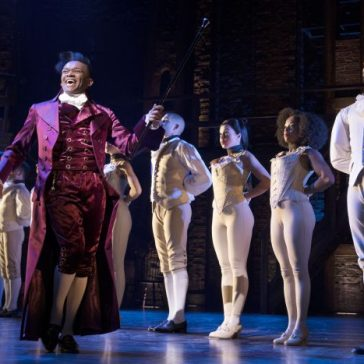 Jason-Pennycooke-Thomas-Jefferson-with-West-End-cast-of-Hamilton-Photo-Credit-Matthew-Murphy-700x467