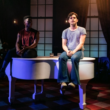 L-R Tyrone Huntley as Wes & Andy Mientus as Patrick in The View UpStairs, credit Darren Bell