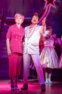 Eloise_Davies_as_Frenchy__Peter_Andre_as_Teen_Angel_in_the_UK_and_Ireland_tour_of_GREASE,_credit_Manuel_Harlan_1000_1500